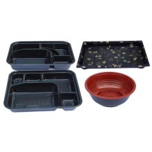 3 compartment take away plastic food Container
