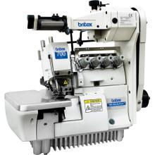 Máquina de coser de puntada Overlock elástica br-700-4/Lfc-2 Super cuatro hilos alta velocidad