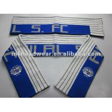 Adult machine jacquard knitting football scarf