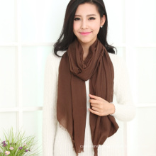 Fashion 100% Water Soluble Wool Shawl in Solid Color