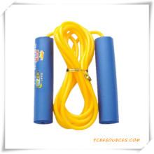 Corda de salto da velocidade do couro do treinamento para a promoção (OS07021)