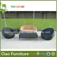 Mesa de centro ao ar livre 2016rattan e cadeira com jogo de café (FC043 + FS015)