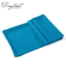 Bufanda de imitación unisex azul de la cabeza de la lana del turbante de Pashmina del cuello de la moda para la mujer musulmán