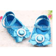 Kinder Fantasie Partei Mädchen Blau Kleid Schuhe MOQ300