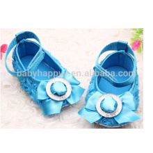 Kids Fancy Party Girls Blue Dress Shoes MOQ300