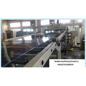 PS PMMA PC Pet Transparent Sheet Extrusion Line / Horizontal Three-Roll Calender / Indirect Three-Roll Calender