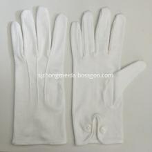 White Military Parade Gloves Snap button