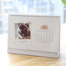 Impresión de calendario de escritorio de diseño personalizado 2017