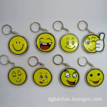 Yellow Smiling Face Factory Customized Logo PVC Keychain