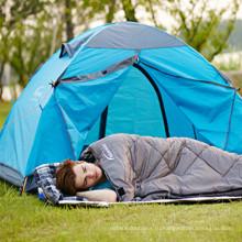 Кофе полый хлопок полиэстер 210t и открытый Пешие прогулки Кемпинг Мумия аварийный спальный мешок