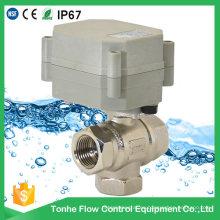 Válvula de bola eléctrica motorizada motorizada de 3 vías para los sistemas de calefacción por suelo radiante