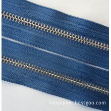 No.5 nickel brass zipper long chain metal zipper