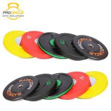 Hochwertige Fitness Gummi beschichtete Gewicht Platten
