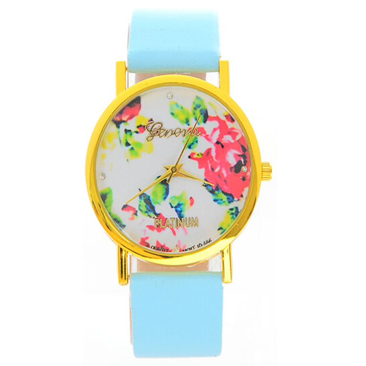 2016 Fashion Cheap Women Colorful Leather Watch