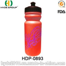 Botella de agua de 600ml moda PE plástico deportes (HDP-0893)