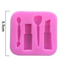 Makeup Series Silicone Cake Mould Decoration Fondant Chocolate Pudding Silicone Mold