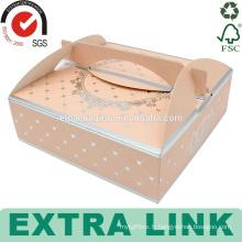 Plat personnalisé swiss roll emballage design pop clair tasse papier triangle boîte à gâteaux