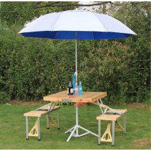 Mesas e cadeiras plegáveis de madeira ao ar livre de madeira