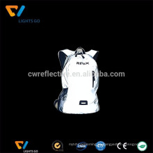 alta luz prata cinza tecido de nylon reflexivo para fazer saco de primeiros socorros