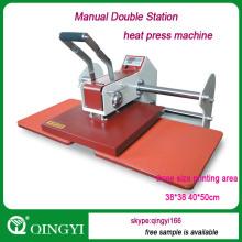 Máquina manual de la prensa del calor de la estación doble HC-A8
