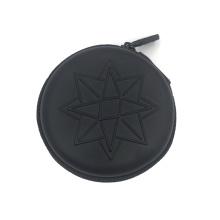 Portable noir eva voyage zipper case de protection écouteurs étui pochette pour les filles