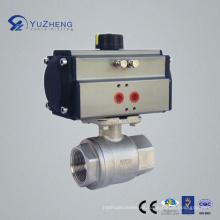 Válvula de bola 2PC con actuador neumático