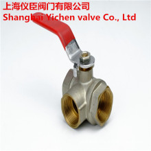 3 Way Threaded Brass Gas Ball Valve