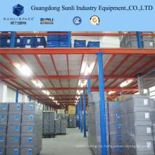 Estante mezzanine ajustable de varios niveles con 500 kg para almacenamiento en el almacén