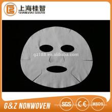 máscara facial não tecida folhas máscara facial de microfibra branca