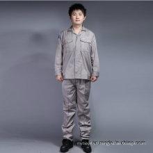 Manches longues à haute qualité 65% Polyester 35% coton vêtements de sécurité costume de travail (BLY2002)