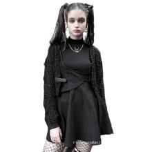 Punk style spring women skirt black high waist adjustable buckle strap overskirt OPQ-881BQF ladies clothing new design PUNK RAVE