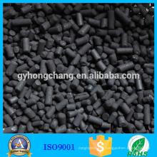 Charbon actif cylindrique imprégné de charbon de potasse d'hydroxyde de potassium pour l'enlèvement d'H2S