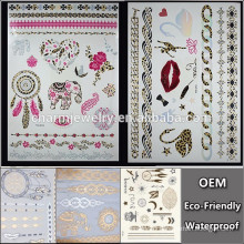 OEM Wholesale with leopard tattoo/biological shape tattoo popular brands temporary tattoo Sticker for adults QY095