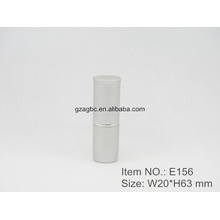 Simple Aluminum Cylindrical Lipstick Tube Container E156, cup size12.1/12.7,Custom color