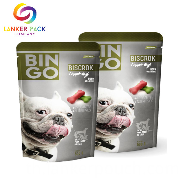 Custom Moisture Proof Foil Cat Food Packaging Bags