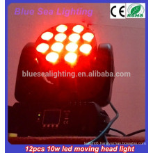 12pcs 10w RGBW 4in1 led moving head beam Smart Lighting