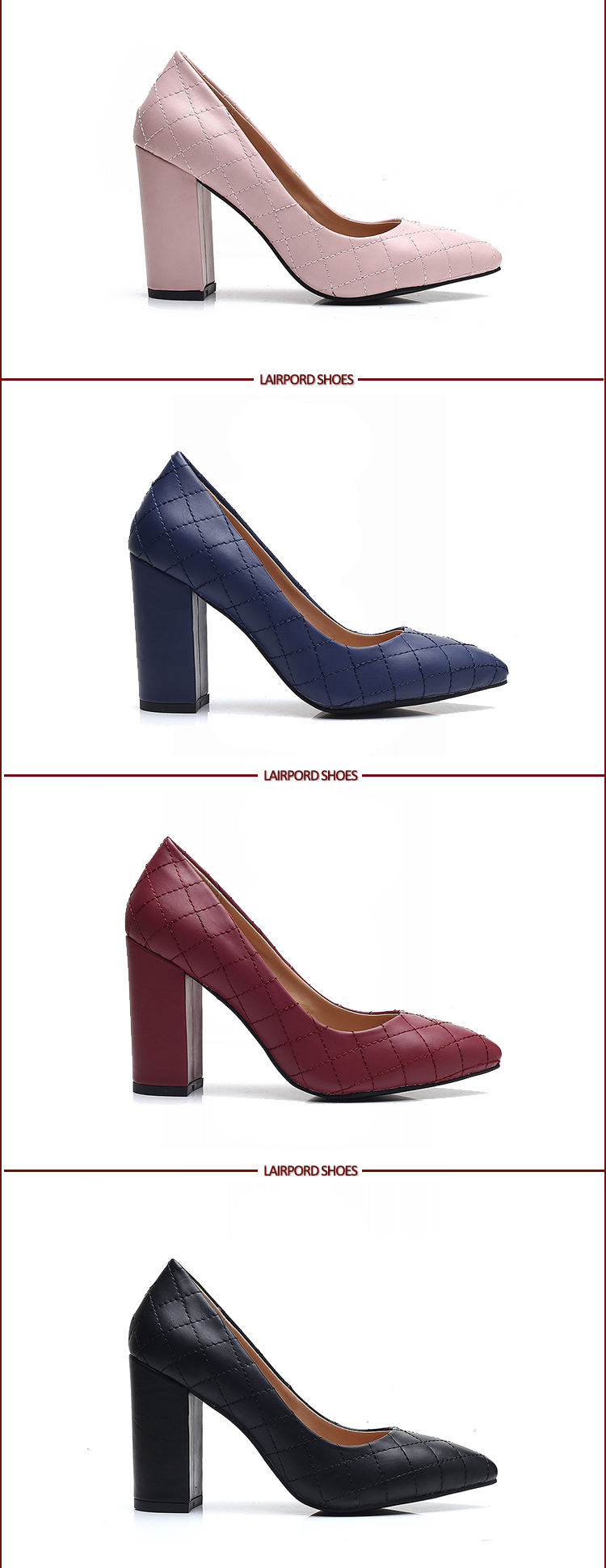 purplish red pump shoes