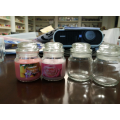 Glass yankee candles glass holders scented candles