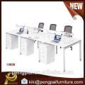 Pure white MDF wooden office furniture workstation with extension