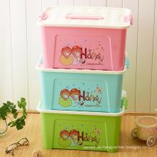 Karikatur-Plastikaufbewahrungsbehälter-Behälter für Haushalt-Speicher