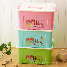 Cartoon Plastic Storage Box Container for Household Storage