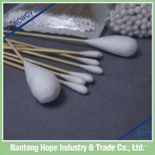 brotes de algodón palo de madera