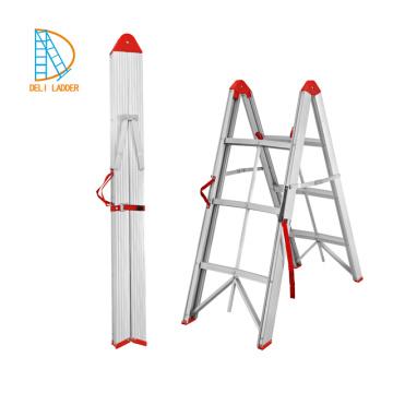 good selling 2*3 Double Climbing Ladder folding step aluminum ladder