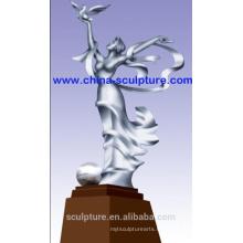 Acier inoxydable moderne304 Sculpture abstraite pour décoration extérieure