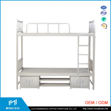 Luoyang Mingxiu Low Price Metal Double Bunk Bed / Bunk Bed with Locker