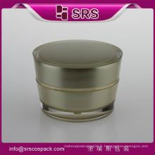 Pots acryliques rouges pour produits cosmétiques, pots acryliques cosmétiques, pots en acrylique