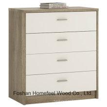 Muebles de madera del dormitorio Gabinete de tocador de 4 cajones (HC15)