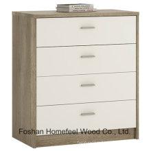 Meubles de chambre à coucher en bois 4 tiroirs Cabinet armoire à caboteur (HC15)