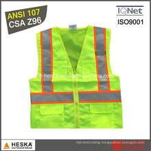 ANSI107 Mens Safety Yellow High Visibility Vest