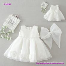 Baby Girl Dress Bautizo Bautizo Vestidos Vestido de niña de las flores